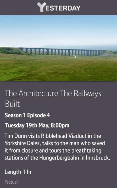 The Architecture The Railways Built - 19/05/2020 BT TV app
