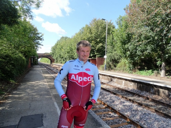 Myself at Elton and Orston railway station